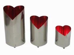 Metal Heart Votives