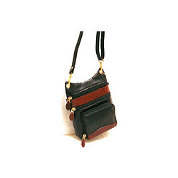 Multi Zippered Leather Bag
