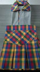 Check Skirt & T-Shirts For Girls