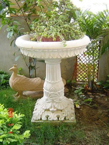 Carved Stone Bird Bath
