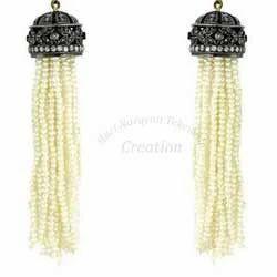 Diamond+Tassel+Earring