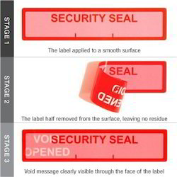 Red Security Seal Void Labels