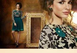 dark cyan gorgeous designer kurtis