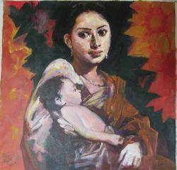 Subrata+Gangopadyay+%28+Acr+On+Canvas+%29+Paintings
