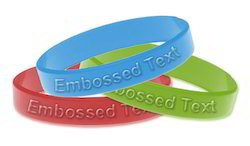 Embossed Silicon Wristband