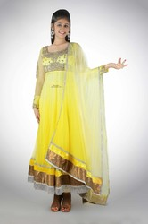 Neon Yellow Anarkali