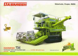 Track Combine Harvester with Axial Flow-Straw Walker