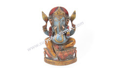 Wooden Painitng Ganesha