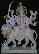 Durga Marble Sculpture Nicely Handmade