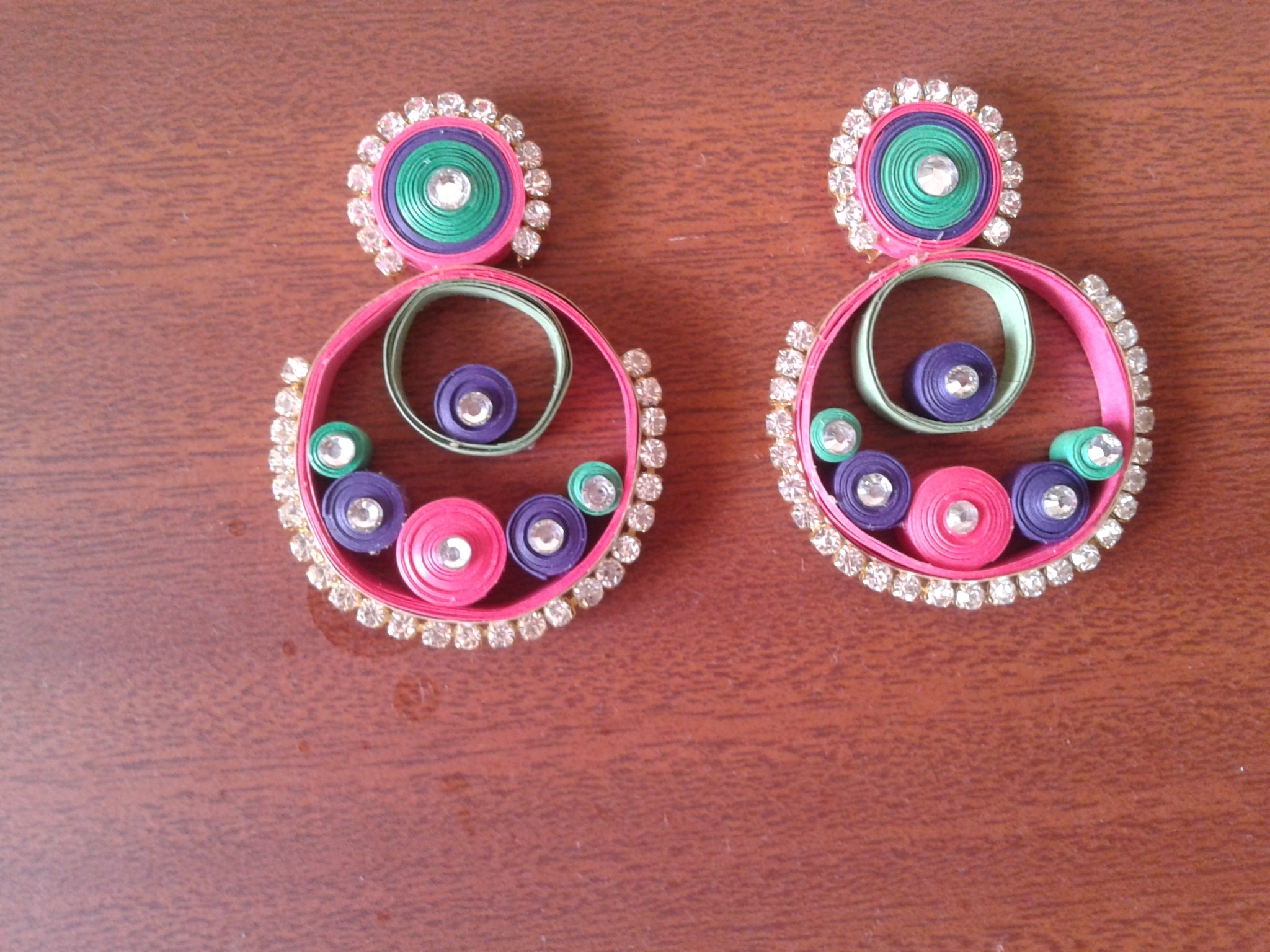 Quilling Earrings More Designs : 1000+ images about quilling. 1 on Pinterest
