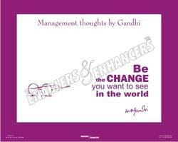 Management Thoughts by Gandhi Poster