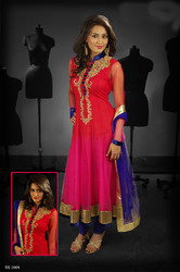 Beautiful Pink Red Readymade Salwar Kameez