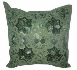 Pakka Thread And Mirror Work Cushion Cover