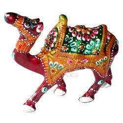 Metal Kathidaar Camel Statue