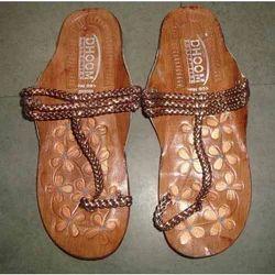 ladies leather flats