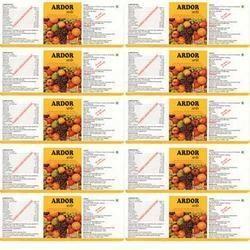 Food Supplements Labels