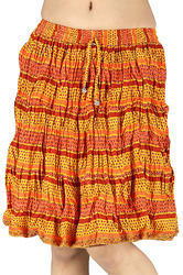 ethnic designer sanganeri cotton short skirt