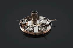 Copper Hammered Thali Sets