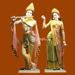 Radha Krishna In Mukut