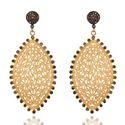 24k Yellow Gold Vermeil Jewellery Sapphire Earring