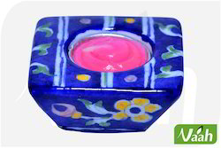 Vaah Blue Pottery Candle Stand