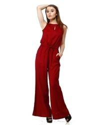 Women Red Jumpsuit