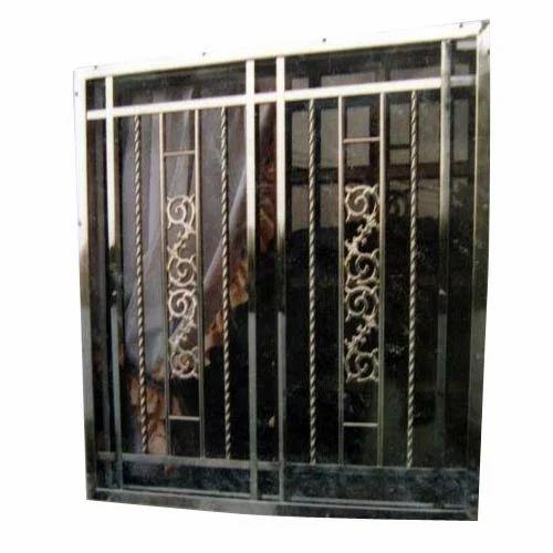 Mild steel window grill design the for Window design ms