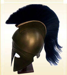 Corinthian Helmet With Plume