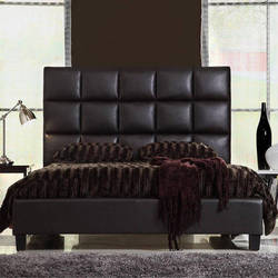 Leather Tufted Headboard Bed