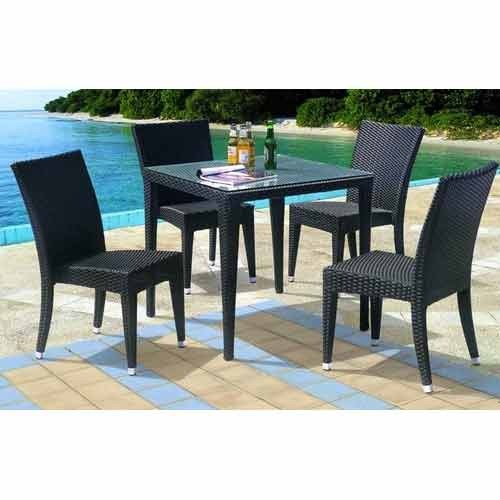 Wicker Bar And Cafe Furniture   Restaurant Wooden Set Manufacturer From New  Delhi