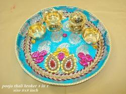 Decorative items bedaset and varadh set aarti pooja for Aarti dish decoration
