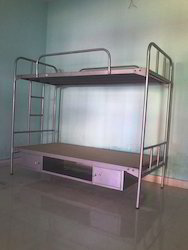 Steel Bunk Bed with Bottom Box