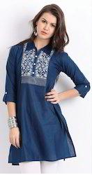 Classy Blue Embroidered Kurta