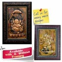 Poses of Ganesha - On Copper Sheet - Repousse Art