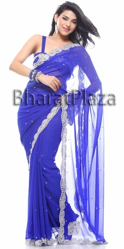 Sparkling Work Border Saree