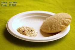 6 Biodegradable Ecoware Round Plate