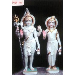 Sculpture of Shiv and Parvati