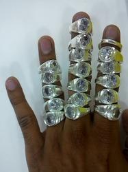 White Metal American Diamond Ring