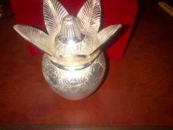 silver plated lotta with nariyal kalash