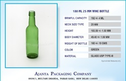 180 Ml Wine Bottle