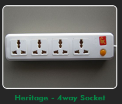 4 Way Heritage Power Strip