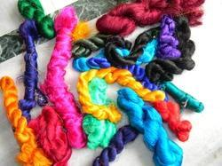 Sari Silk Thrums In Multi And Single Colors For Yarn Stores