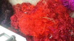 Solid Colored Sari Silk Waste For Textile Artists, Fiber Art