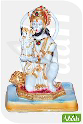 Vaah Resin Hanuman Statue with Shri Ram Sita on Palm