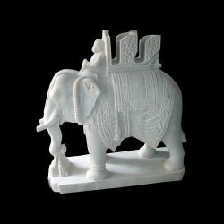 Elephant Marble Statue