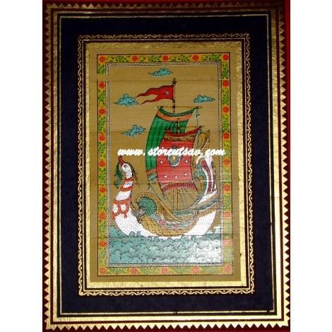 Decorative Paintings - Framed Palm Leaf Painting Wholesale Supplier ...