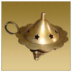 Flower Shaped Dhoop Burner with Handle