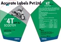 Labels for Lubricant and Oil