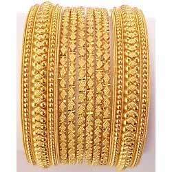 Gold+Plated+Bangles