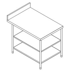 S.s.Work Table with 2 U/s
